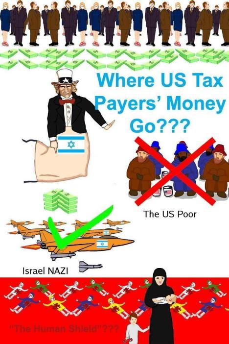 US Government give US$ 3.2 billion from US Taxpayers per year to Israel