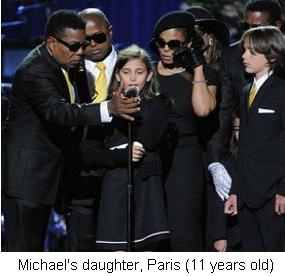 Paris, Michael Jackson's daughter